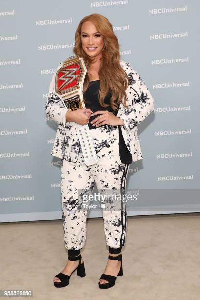Nia Jax attends the 2018 NBCUniversal Upfront Presentation at Rockefeller Center on May 14 2018 in New York City