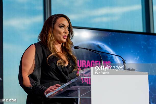 Nia Jax presents Courageous Use of Sport award presented by WWE during the Beyond Sport Global Awards on July 26 2017 in New York City