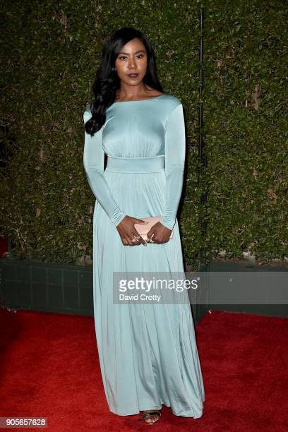 Nia Jervier attends the 49th NAACP Image Awards Arrivals at Pasadena Civic Auditorium on January 15 2018 in Pasadena California