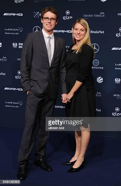 Nia Künzer und Freund Felix Groh beim Laureus Medien Preis in Kitzbühel Austria