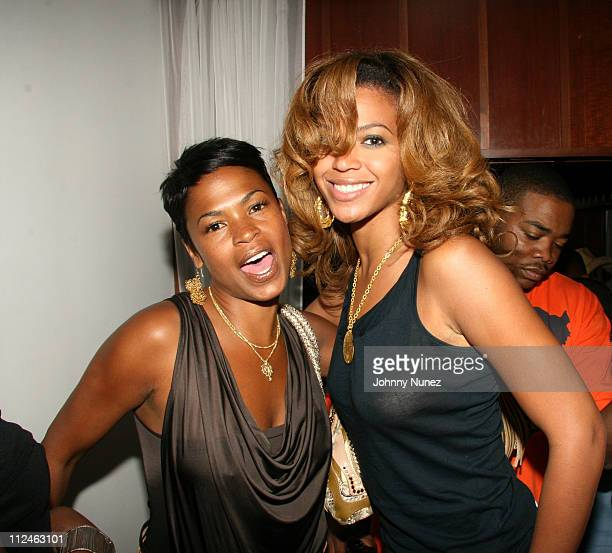 Nia Long and Beyonce during Michael Kyser Surprise Birthday Party at Hudson Hotel Penthouse May 31 2006 at Hudson Hotel Penthouse in New York New...