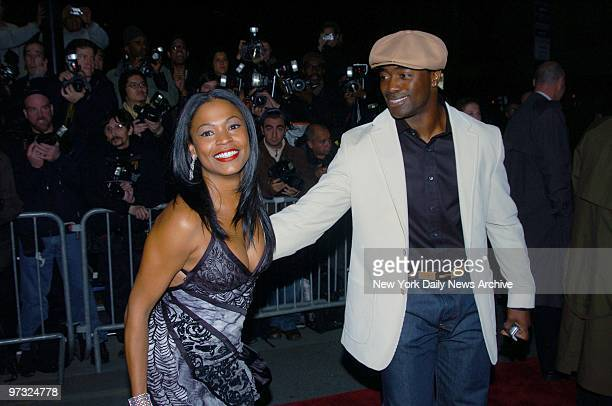 Nia Long and Curtis Martin arrive at the Ziegfeld Theater for the New York premiere of the movie Alfie She's in the film