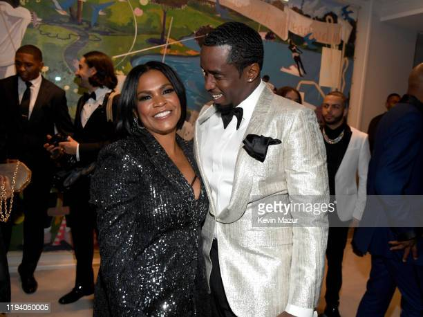 Nia Long and Sean Combs attend Sean Combs 50th Birthday Bash presented by Ciroc Vodka on December 14 2019 in Los Angeles California