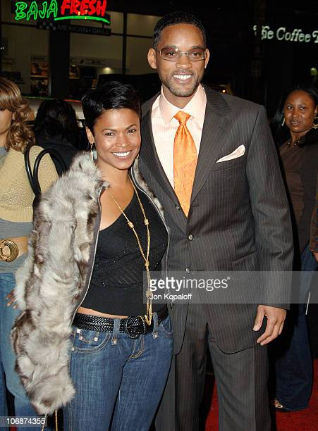 Nia Long and Will Smith during ATL Los Angeles Premeire Arrivals at Grauman's Chinese Theatre in Hollywood California United States