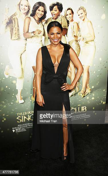 Nia Long arrives at the Los Angeles premiere of Tyler Perry's The Single Moms Club held at ArcLight Cinemas Cinerama Dome on March 10 2014 in...