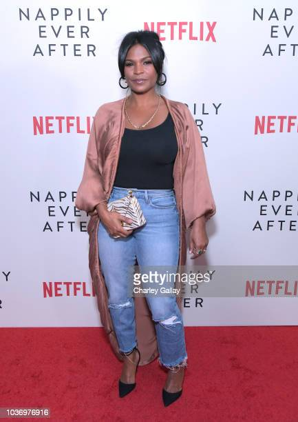 Nia Long attends a screening of Netlfix's Nappily Ever After at Harmony Gold Theatre on September 20 2018 in Los Angeles California