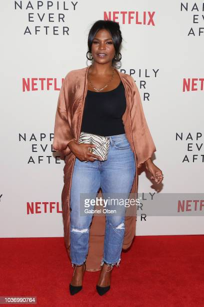 Gabrielle Union and Sanaa Lathan attend a screening of Netlfix's 'Nappily Ever After' at Harmony Gold on September 20 2018 in Los Angeles California