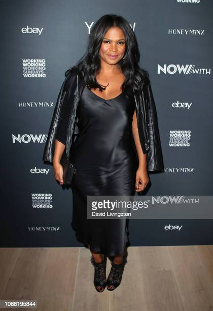 Nia Long attends NowWith presented by Yahoo Lifestyle in partnership with Working Sundays Series with Nicole Richie's Honey Minx collection reveal at...
