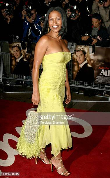 Nia Long during Alfie World Charity Premiere in Aid of Make A Wish Arrivals at Empire Leicester Square in London Great Britain