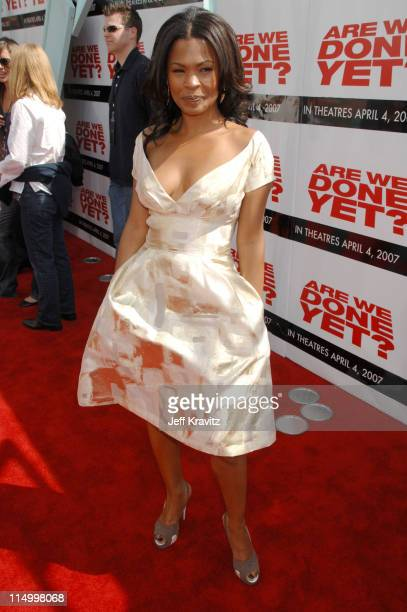 Nia Long during 'Are We Done Yet' Los Angeles Premiere Red Carpet at Mann Village Theater in Westwood California United States