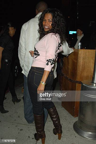 Nia Long during Celebrity Sightings at Hyde Club February 8 2007 at Hyde in West Hollywood California United States