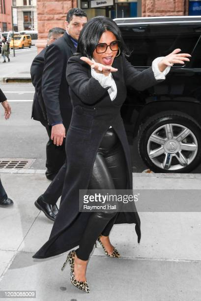Nia Long is seen outside Build Studi on February 24 2020 in New York City