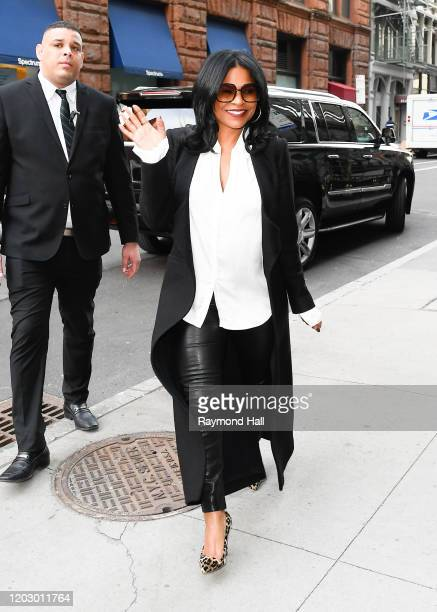 Nia Long is seen outside Build Studio on February 24 2020 in New York City