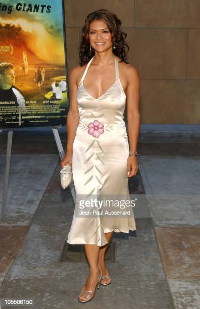 Nia Peeples during Riding Giants Los Angeles Premiere at The Egyptian Theatre in Hollywood California United States