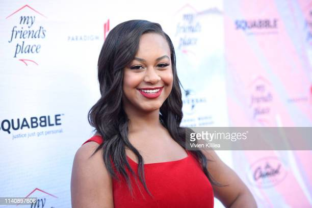 Nia Sioux attends Ending Youth Homelessness A Benefit for My Friend's Place at Hollywood Palladium on April 06 2019 in Los Angeles California