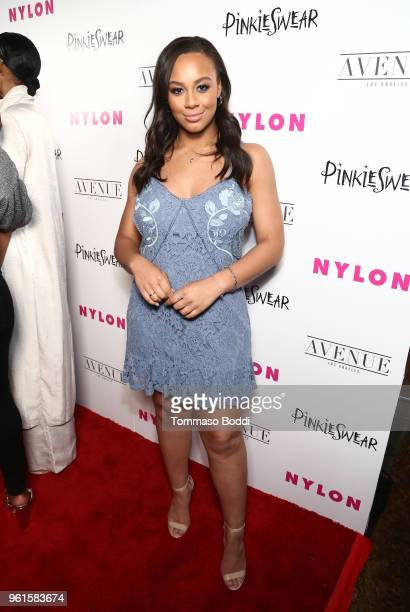 Nia Sioux attends NYLON's Annual Young Hollywood Party sponsored by Pinkie Swear at Avenue Los Angeles on May 22 2018 in Hollywood California