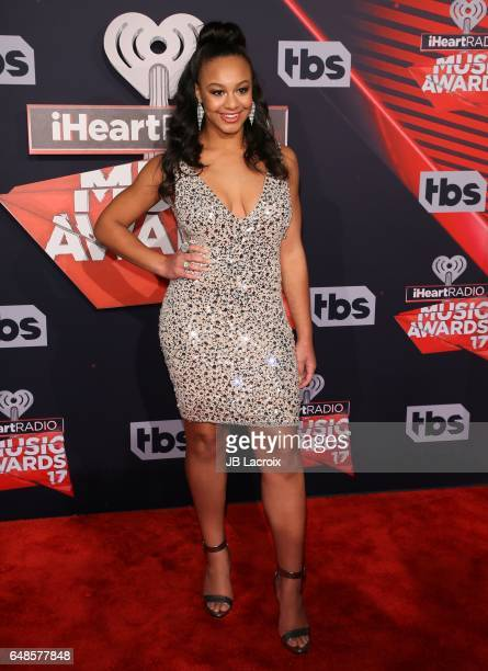 Nia Sioux attends the 2017 iHeartRadio Music Awards at The Forum on March 5 2017 in Inglewood California