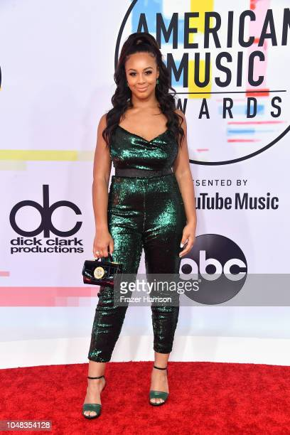Nia Sioux attends the 2018 American Music Awards at Microsoft Theater on October 9 2018 in Los Angeles California