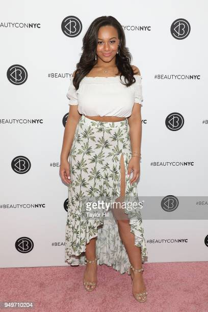Nia Sioux attends the 2018 Beautycon NYC at The Jacob K Javits Convention Center on April 21 2018 in New York City