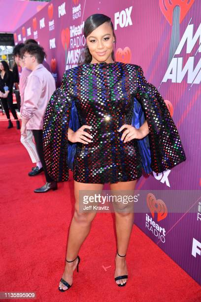 Nia Sioux attends the 2019 iHeartRadio Music Awards which broadcasted live on FOX at Microsoft Theater on March 14 2019 in Los Angeles California