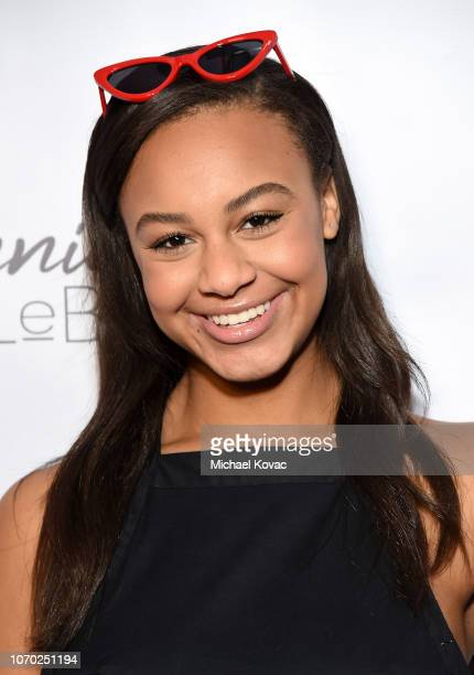 Nia Sioux attends the Annie LeBling presents Annie LeBlanc Performance Pop Up Shop on December 8 2018 in Los Angeles California