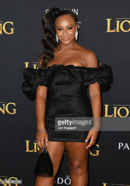 Nia Sioux attends the Premiere Of Disney's The Lion King at Dolby Theatre on July 09 2019 in Hollywood California