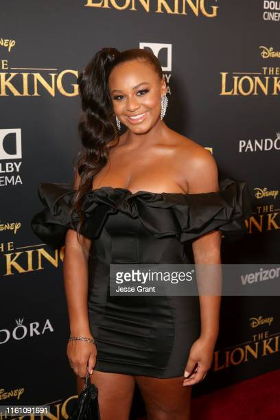 Nia Sioux attends the World Premiere of Disney's THE LION KING at the Dolby Theatre on July 09 2019 in Hollywood California
