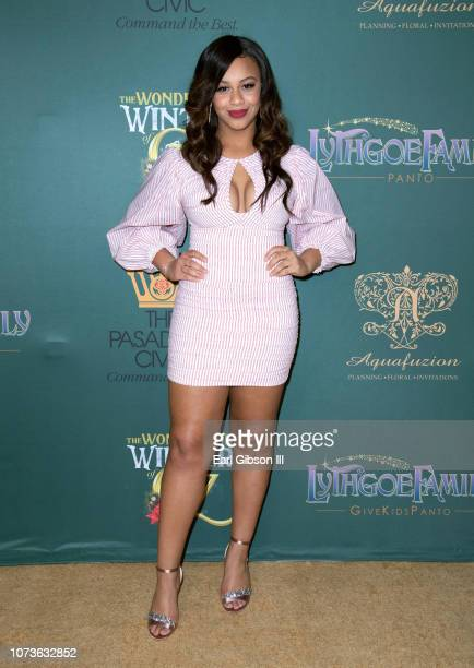 Nia Sioux attends the World Premiere Of Lythgoe Family Pantos' The Wonderful Winter Of Oz Opening Night at Pasadena Civic Auditorium on December 14...