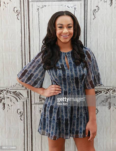 Nia Sioux discusses her offBroadway debut in the musical 'Trip of Love' at AOL Build at AOL HQ on July 25 2016 in New York City