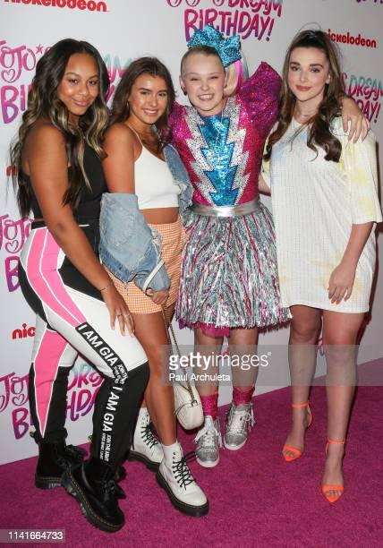 Nia Sioux Kalani Hilliker JoJo Siwa and Kendall Vertes attend JoJo Siwa Sweet 16 Birthday celebration at W Hollywood on April 09 2019 in Hollywood...