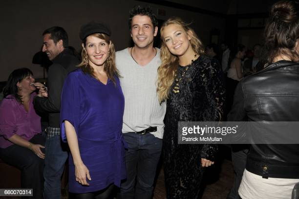 Nia Vardalos Alexis Georgoulis and Kate Hudson attend the Glamour Reel Moments Party for Kate Hudson's Film Cutlass at the Greenwich Hotel on May 03...
