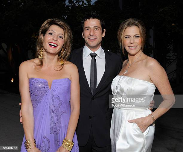 Nia Vardalos Alexis Georgoulis and Rita Wilson arrive at the Los Angeles premiere of My Life In Ruins at the Zanuck Theater at 20th Century Fox Lot...
