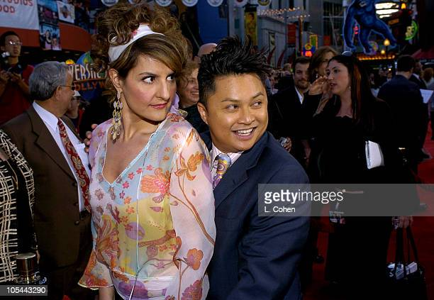 Nia Vardalos and Alec Mapa during Connie and Carla World Premiere Red Carpet at Universal Studios Cinema in Universal City California United States