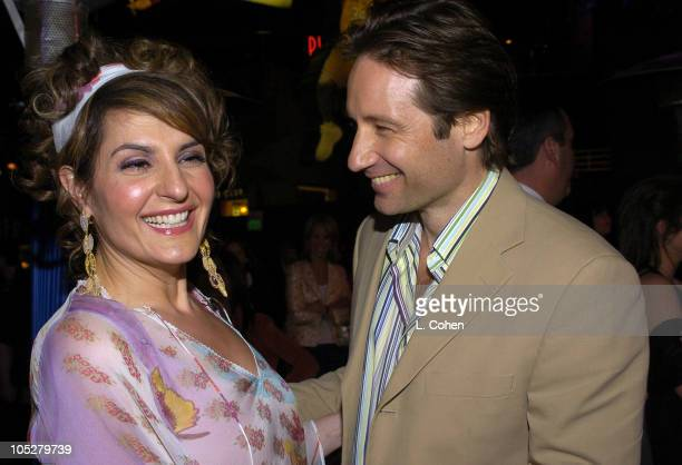 "Nia Vardalos and David Duchovny during ""Connie and Carla"" World Premiere - After Party at Universal Studios Cinema in Universal City, California,..."
