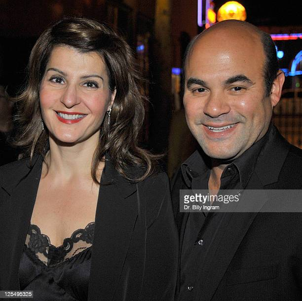 Nia Vardalos and her husband Ian Gomez attend Standing On Ceremony The Gay Marriage Plays at Largo At The Coronet on December 6 2010 in Los Angeles...
