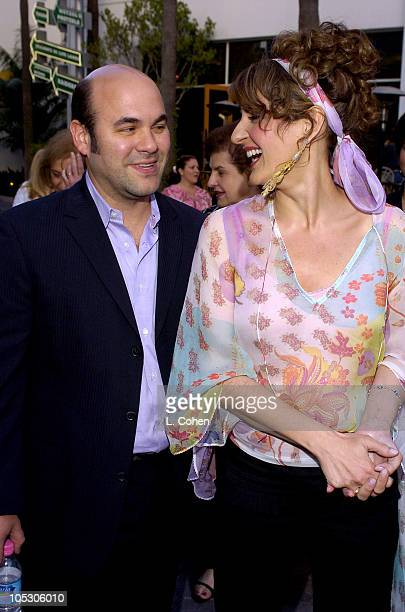 Nia Vardalos and husband Ian Gomez during Connie and Carla World Premiere Red Carpet at Universal Studios Cinema in Universal City California United...