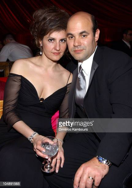 Nia Vardalos and Ian Gomez during Elton John AIDS Foundation's 11th Annual Oscar party cohosted by In Style and AOL in association with MAC Cosmetics...