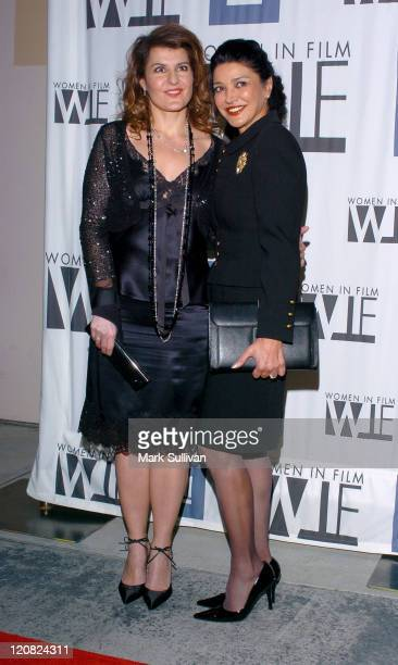 Nia Vardalos and Shohreh Aghdashloo during Women In Film and General Motors Announce an Innovative Alliance Arrivals at Globe Theatre at Universal...