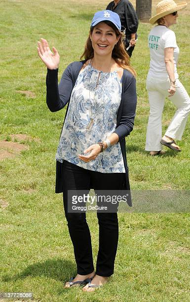 Nia Vardalos arrives at the 21st Annual A Time For Heroes Celebrity Picnic sponsored by Disney to benefit The Elizabeth Glaser Pediatric AIDS...