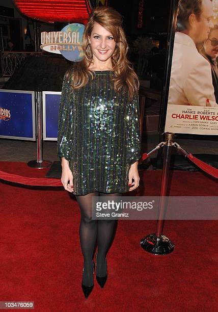 Nia Vardalos arrives to the premiere of Universal Pictures Charlie Wilson's War at City Walk Cinemas on December 10 2007 in Universal City California