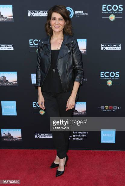 Nia Vardalos attends the 2018 Los Angeles Greek Film Festival premiere of Smuggling Hendrix at the Egyptian Theatre on June 6 2018 in Hollywood...