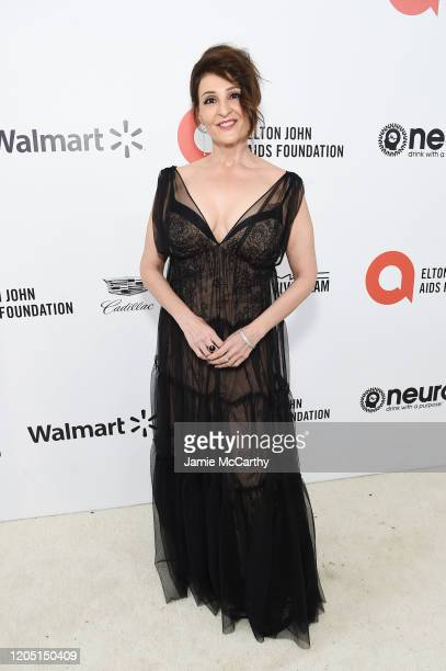 Nia Vardalos attends the 28th Annual Elton John AIDS Foundation Academy Awards Viewing Party sponsored by IMDb, Neuro Drinks and Walmart on February...