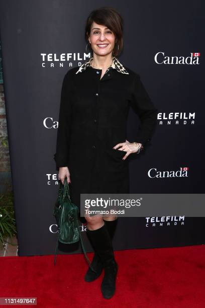 Nia Vardalos attends the Canada's Oscar Salute Celebration Hosted By Consul General Of Canada Mr Zaib Shaikh And Telefilm Canada at Official...