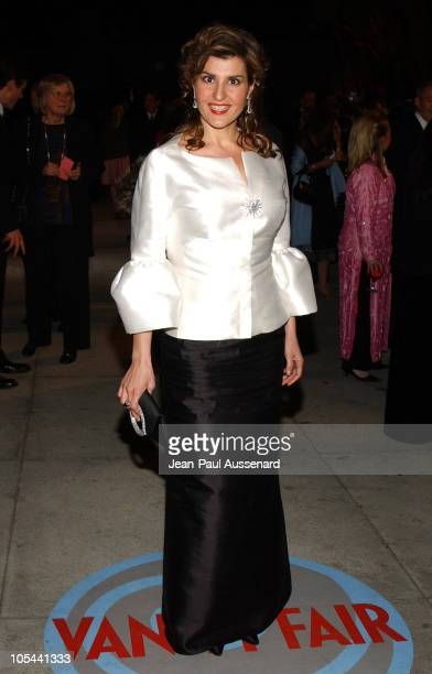 Nia Vardalos during 2004 Vanity Fair Oscar Party Arrivals at Mortons in Beverly Hills California United States