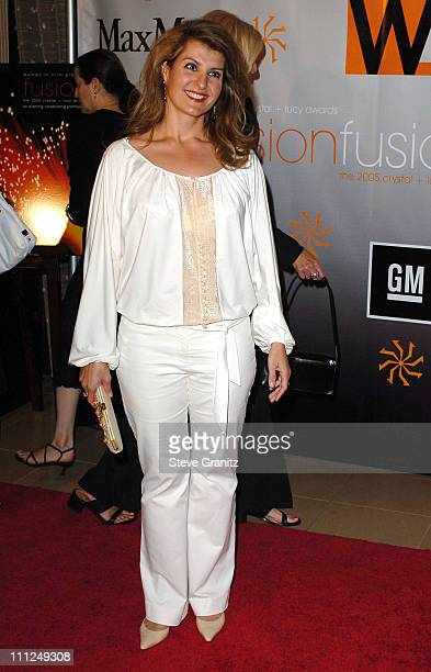 Nia Vardalos during 2005 Women In Film Crystal Lucy Awards Arrivals in Beverly Hills California United States