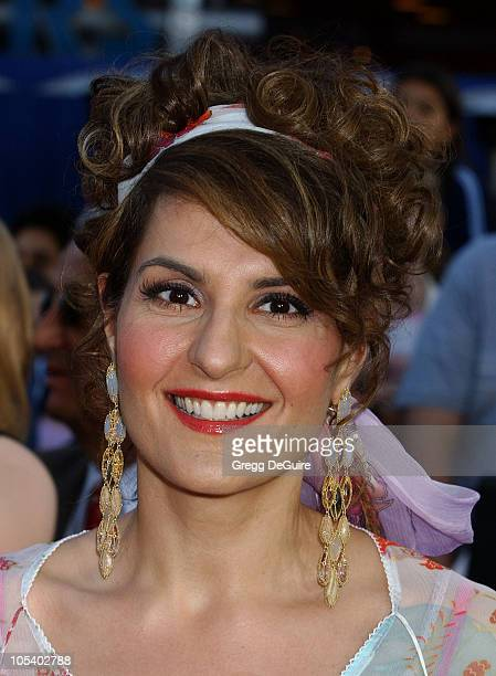 Nia Vardalos during Connie and Carla World Premiere Arrivals at Universal Studios Cinema in Universal City California United States