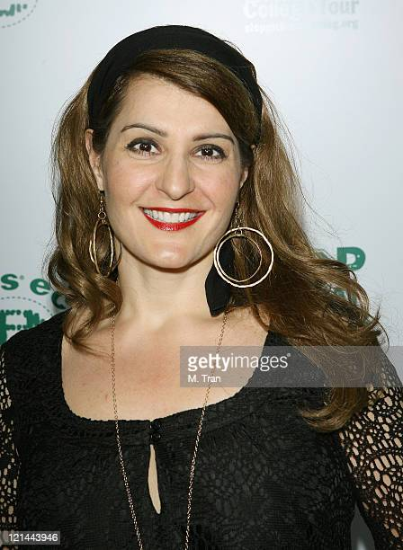 Nia Vardalos during ELLE Green Issue Launch Party Arrivals at Boulevard 3 in Hollywood California United States