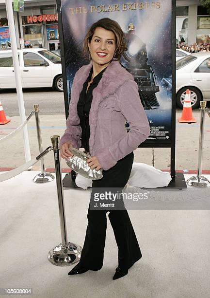 Nia Vardalos during The Polar Express Los Angeles Premiere Arrivals at Grauman's Chinese in Hollywood California United States