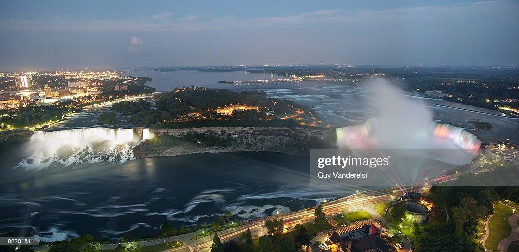 Niagara Falls and American : Stock Photo