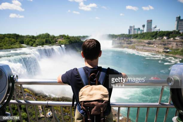 niagara falls are always attraction for tourists - niagara falls stock pictures, royalty-free photos & images